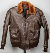1943 WWII USMC Leather Flying Jacket Indentified