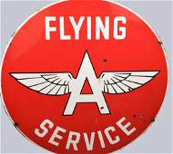 Flying A Service Double Sided Sign 48 inches Porcelain