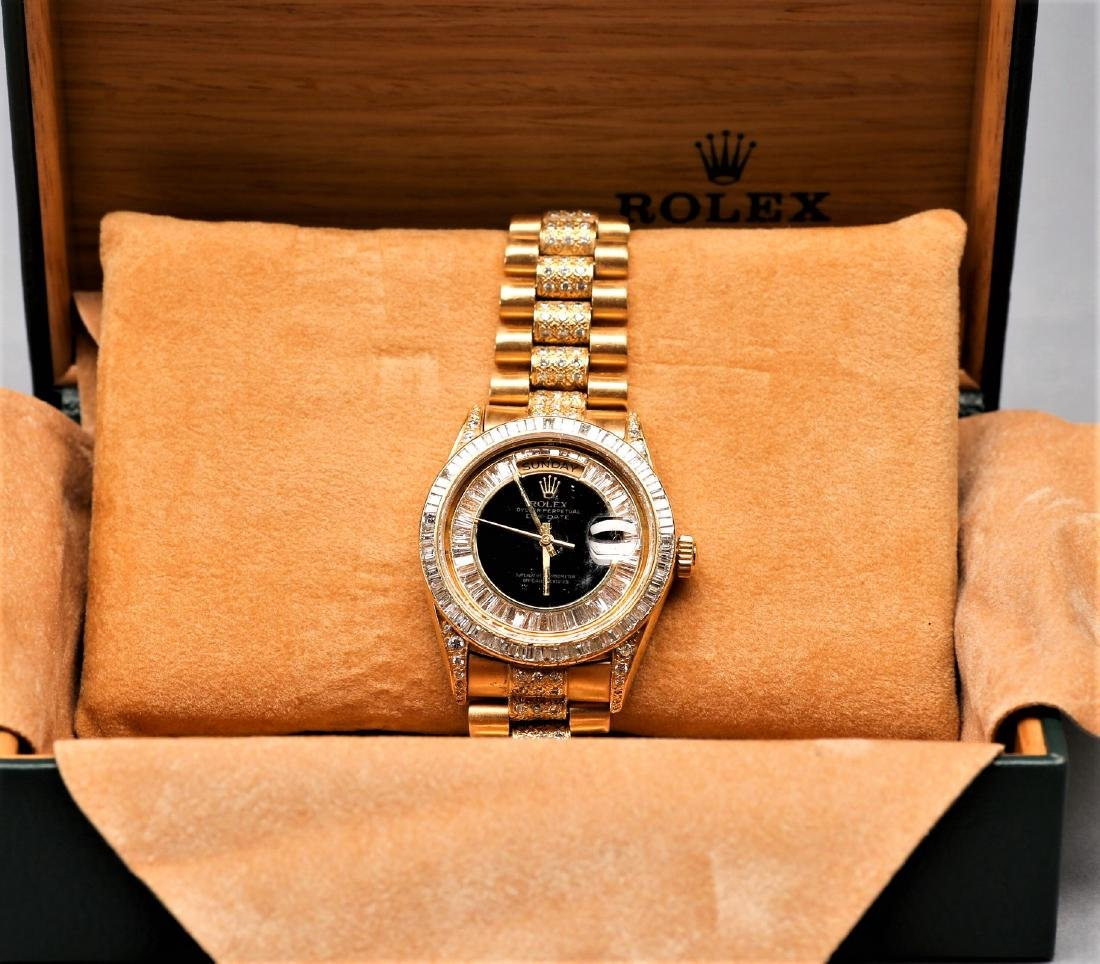 Men's Rolex 18k Presidential Watch w/ 11 cts Diamonds
