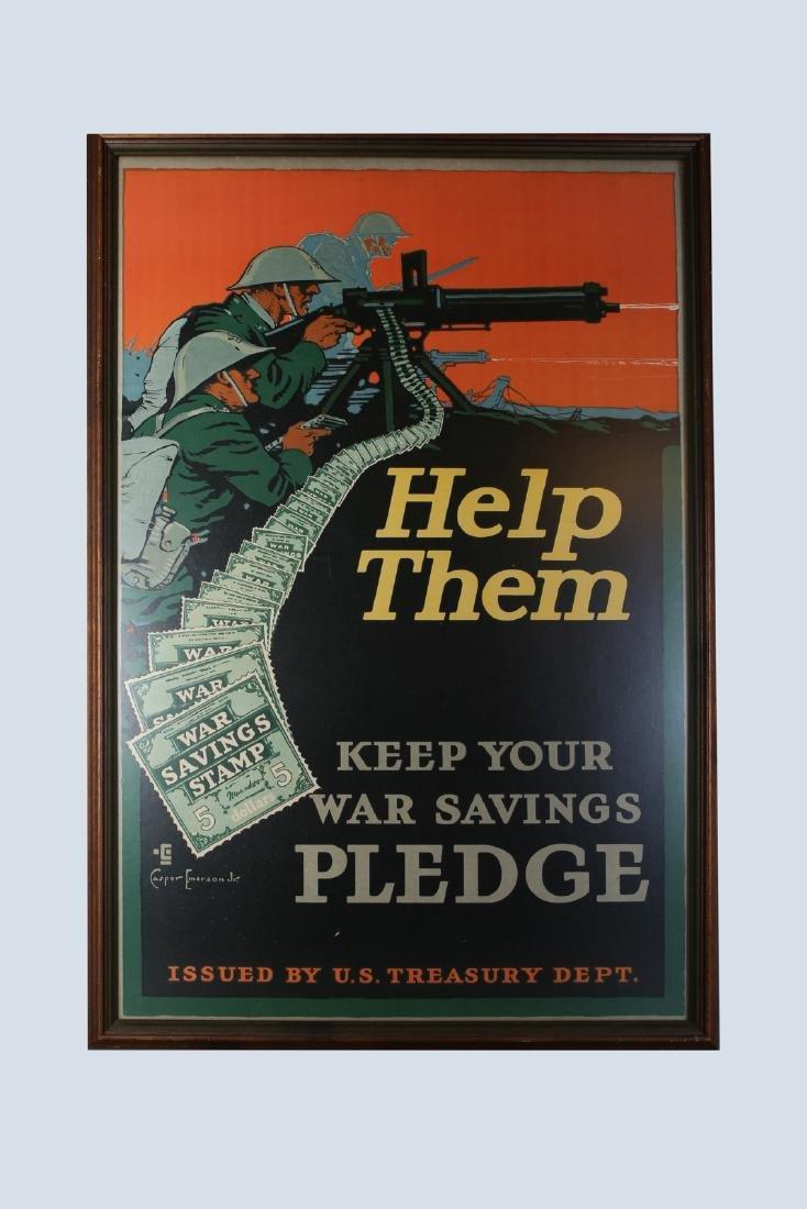 WW1 Casper Emerson Bond Poster, Help Them Keep Your War