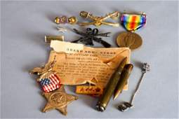 Vintage WWI  WWII Military Jewelry Lot