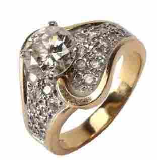 Beautiful 2.20ct Diamond 14k Gold Ring