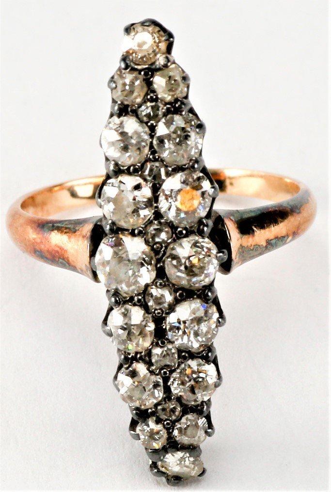 Beautiful Antique Georgian Diamond & 18k Gold Ring