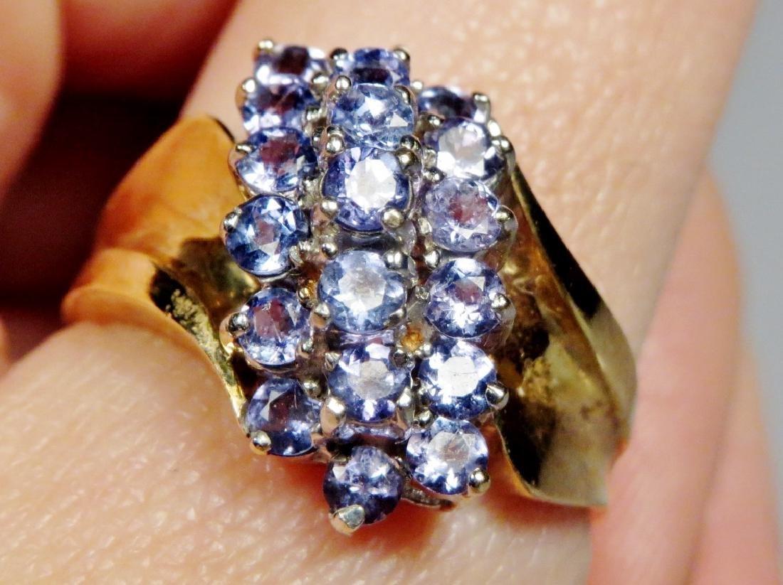 10k Gold & Tanzanite Cluster Ring