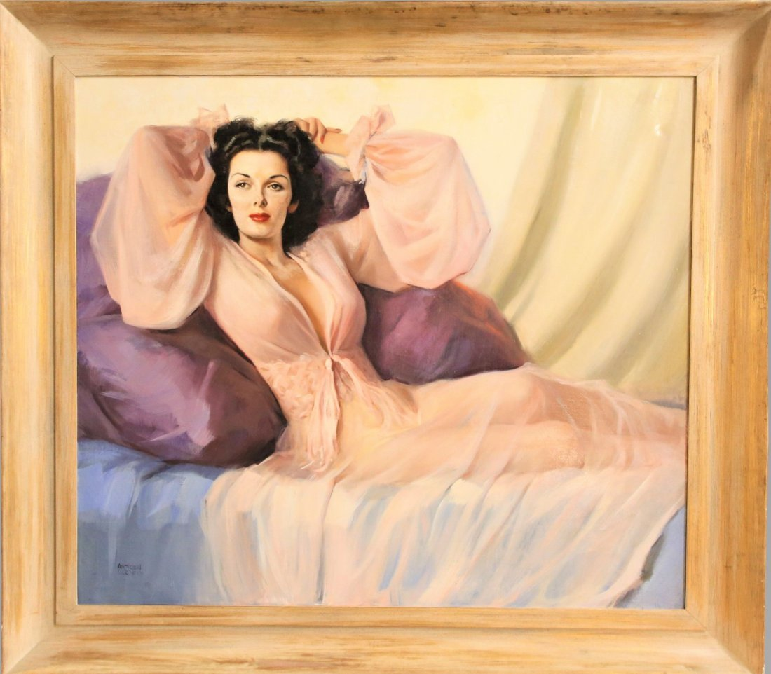 Orig. Oil Painting of Jane Russell by Andrew Loomis