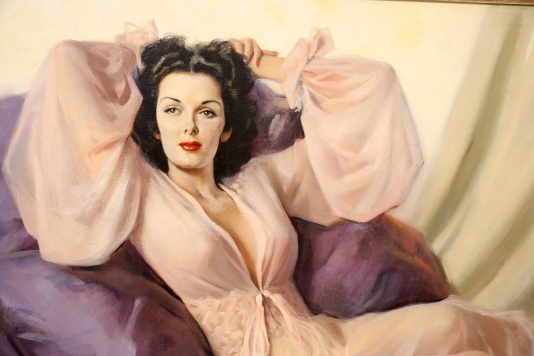 Orig. Oil Painting of Jane Russell by Andrew Loomis - 2