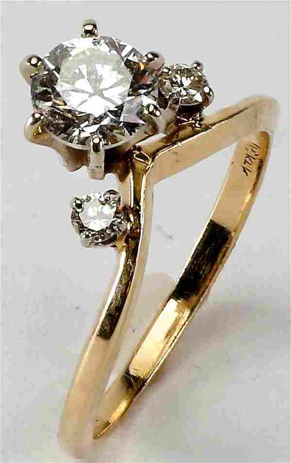 Beautiful 3/4ct Diamond & 14k Gold Ring