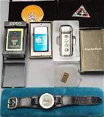 Misc Lot Mickey Watch Lighters Olympics Goodies