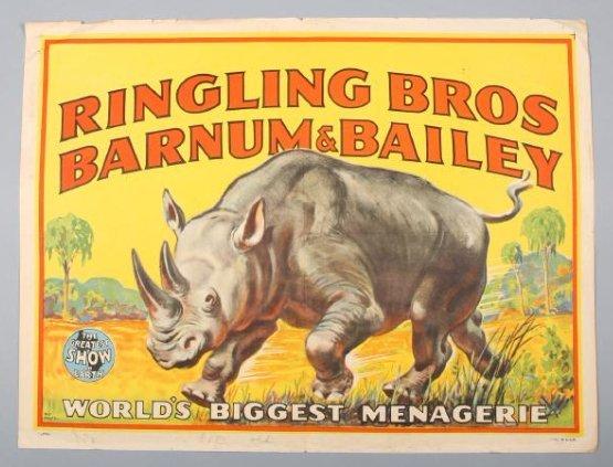 Ringling Brothers & Barnum & Bailey Circus Rhinocerous