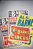 Lot of Al G Barnes Circus Poster c1960