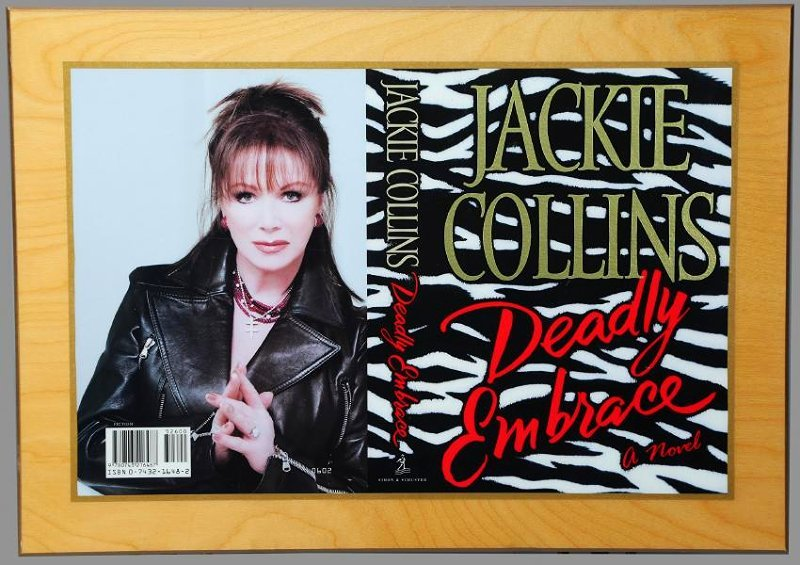 1st Ed. Publishers Gift Jackie Collins, Deadly Embrace