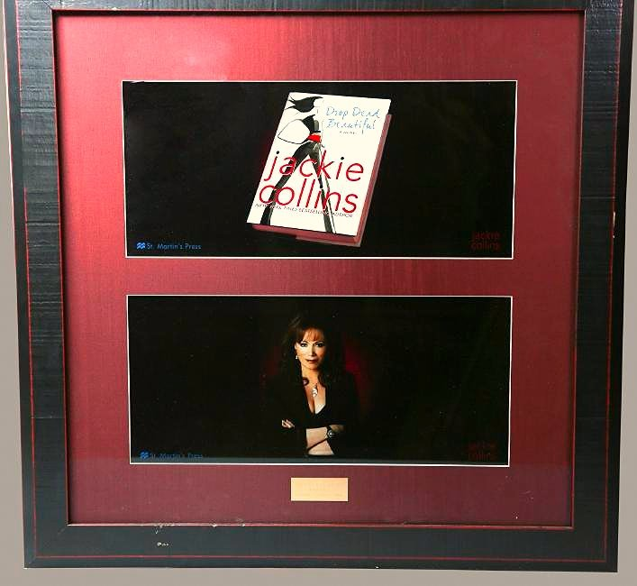 "Jackie Collins Presentation Plaque For ""Drop Dead"