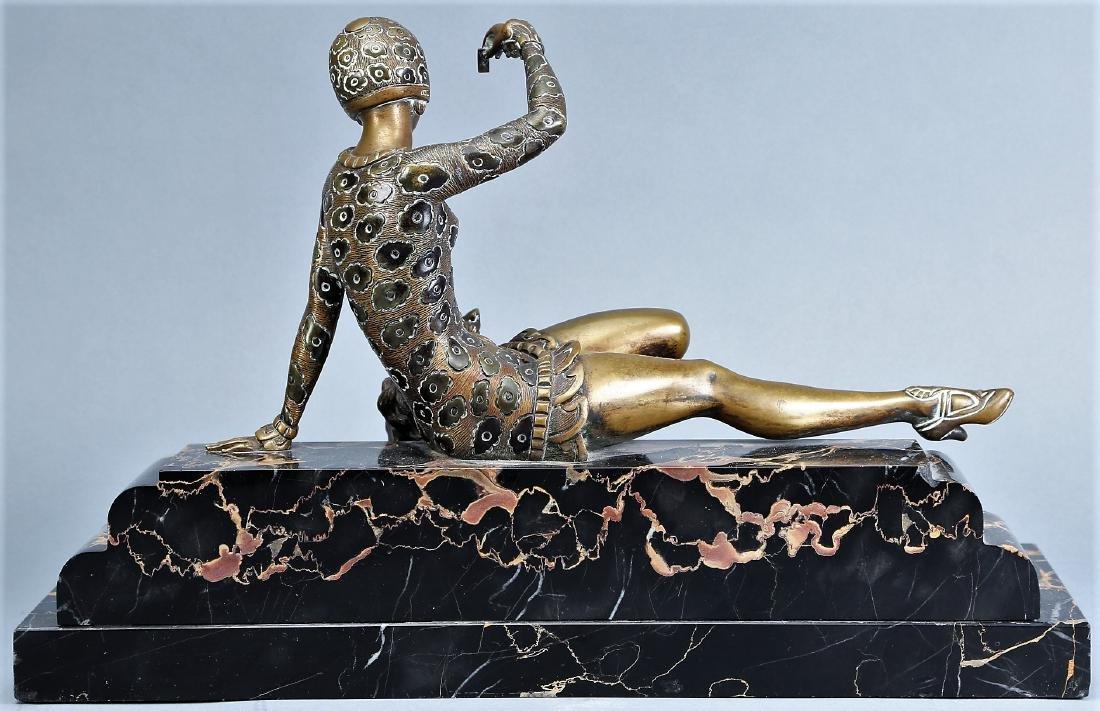 Art Deco Bronze Lady , H,  Molins - 4