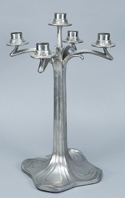 Vintage 5 Arm Jugendstil Candlestick by Style
