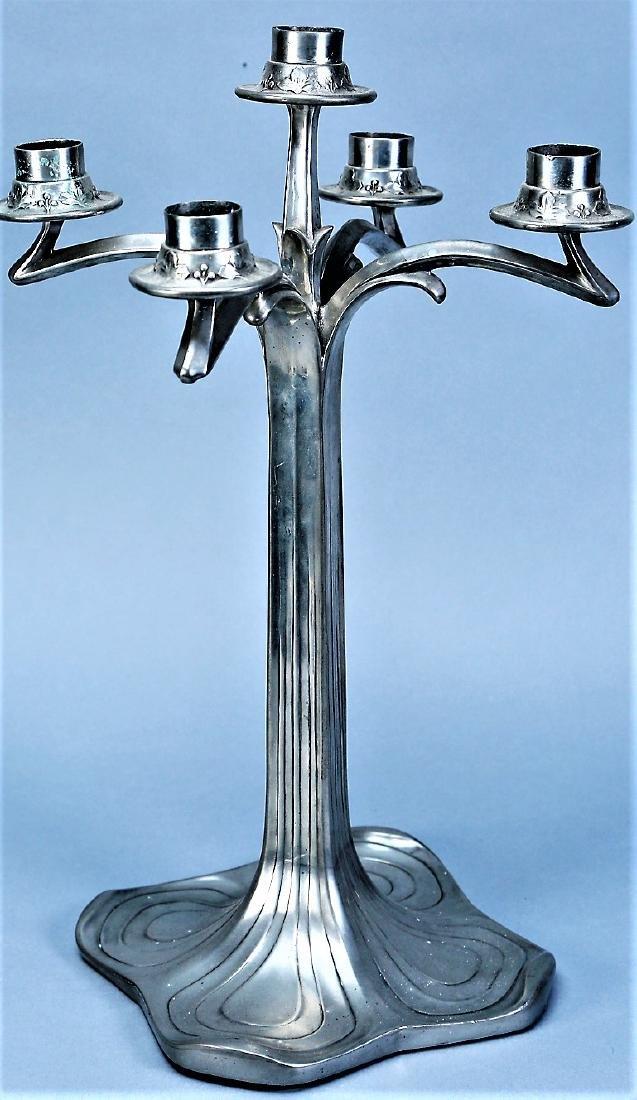 Vintage 5 Arm Jugendstil Candlestick by Style - 2