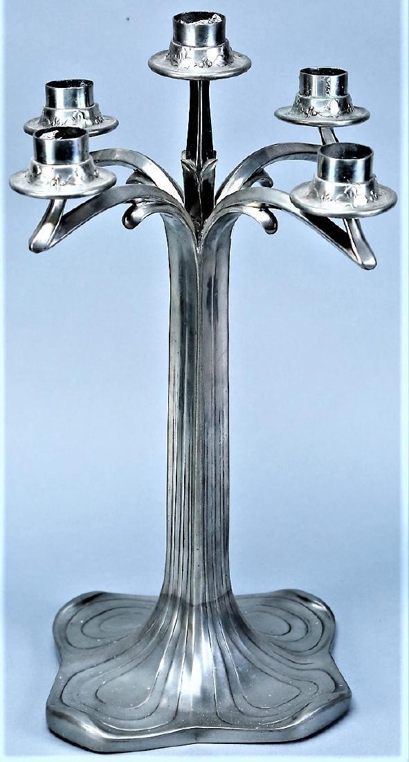 Vintage 5 Arm Jugendstil Candlestick by Style - 3