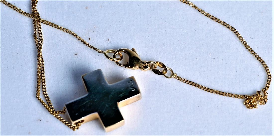 14K Yellow Gold and Diamond Cross Necklace, Worn By - 4