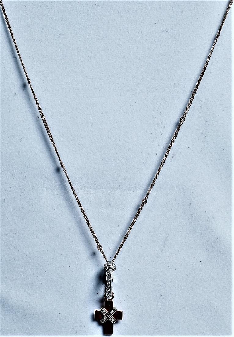 14K/18K Rose Gold Cross Pendant Necklace, Worn by Ms. - 2