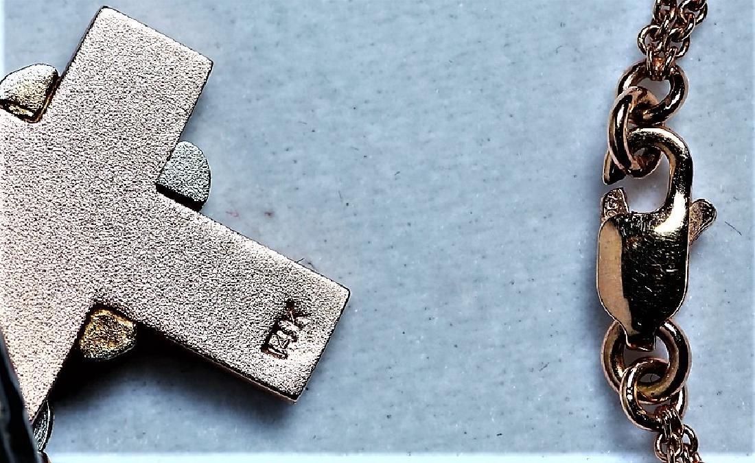 14K/18K Rose Gold Cross Pendant Necklace, Worn by Ms. - 4