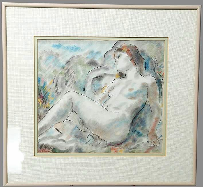 V. Wilson, Lithograph Reclining Nude