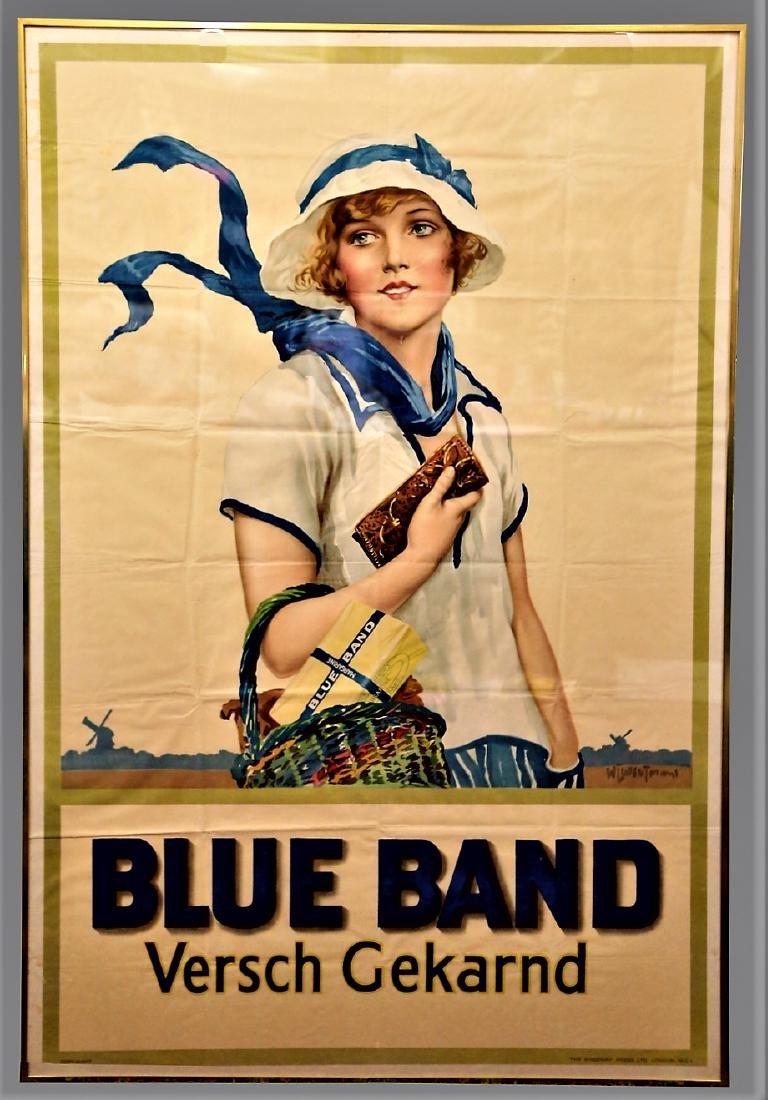 Art Deco Blue Band Margarine Poster - 2