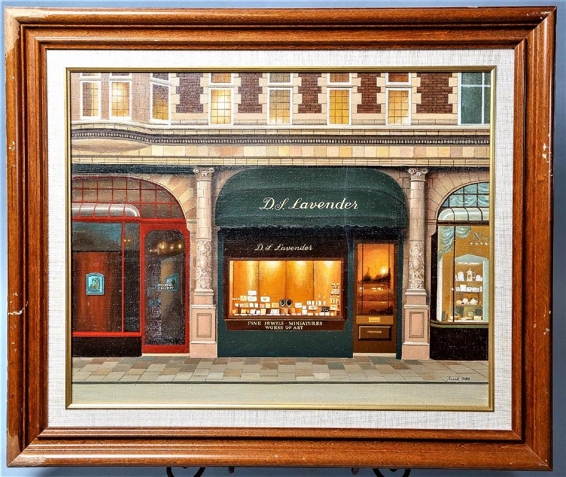 Jureck Jablonski, D.L. Lavender Acrylic on Canvas - 2