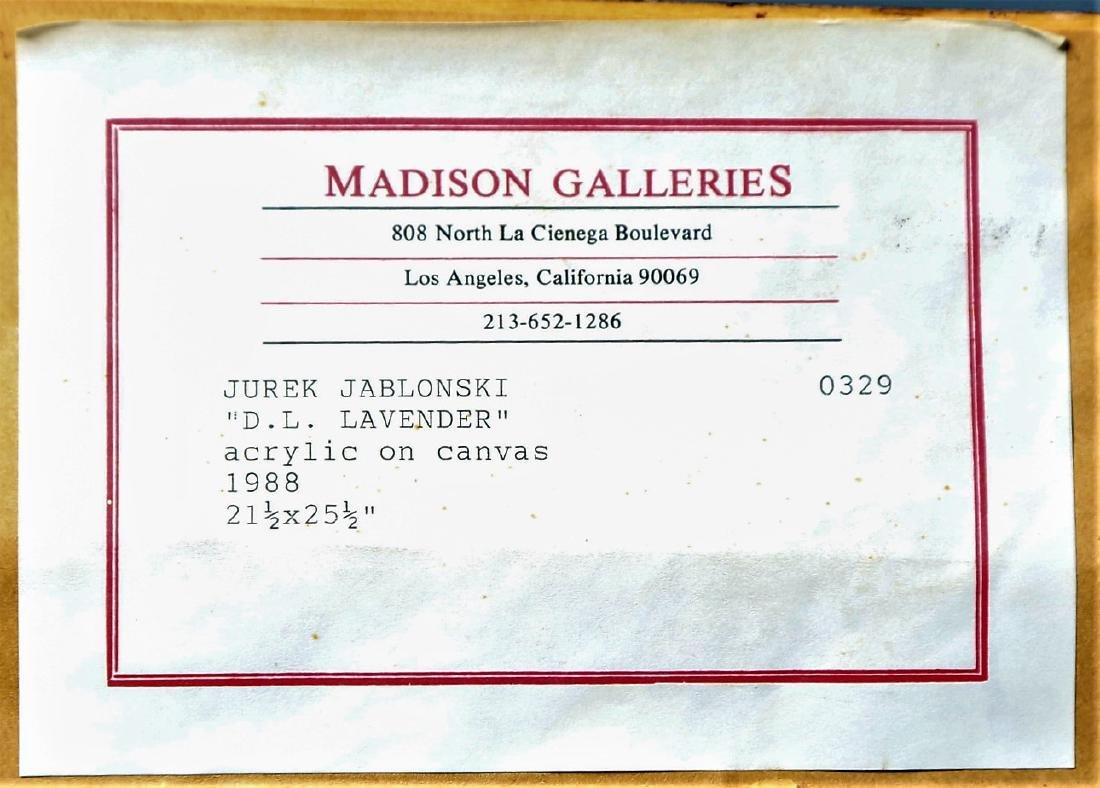 Jureck Jablonski, D.L. Lavender Acrylic on Canvas - 4