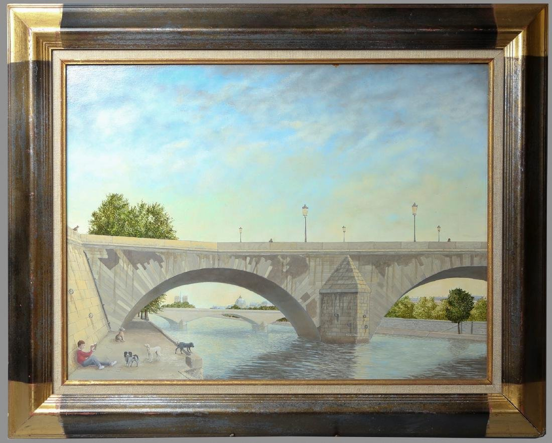"""Signed  Painting """"Pont Royal"""""""