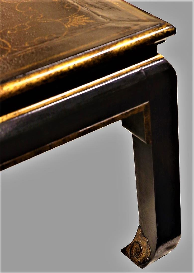 Beautiful Vintage Black Lacquer Style Coffee Table - 3
