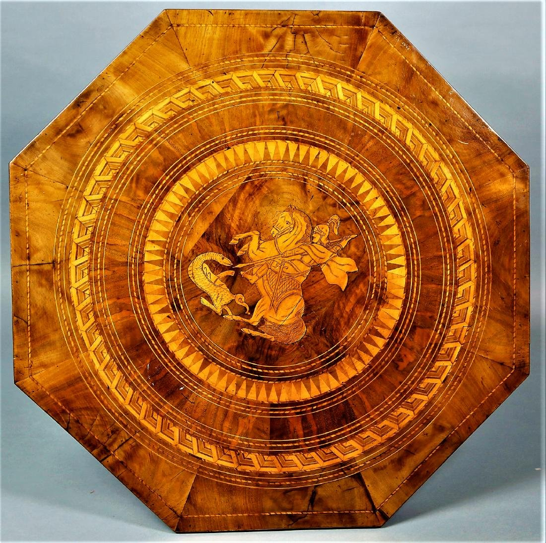 19th C Italian St. George Parquetry Table - 3
