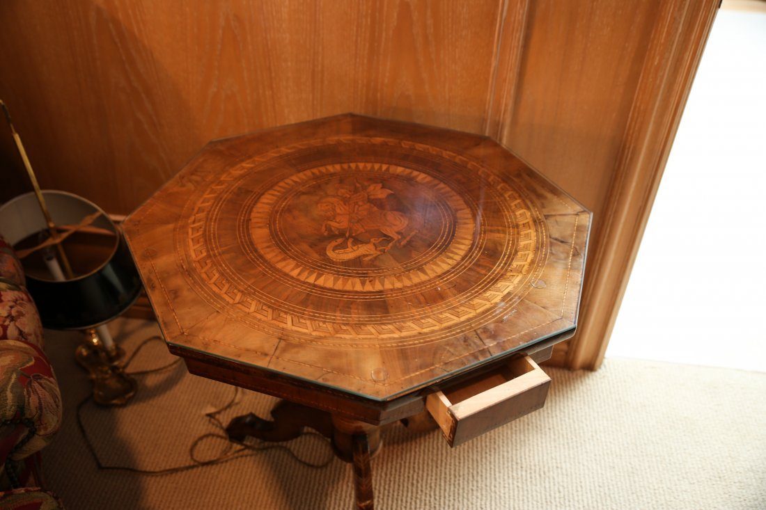 19th C Italian St. George Parquetry Table - 6