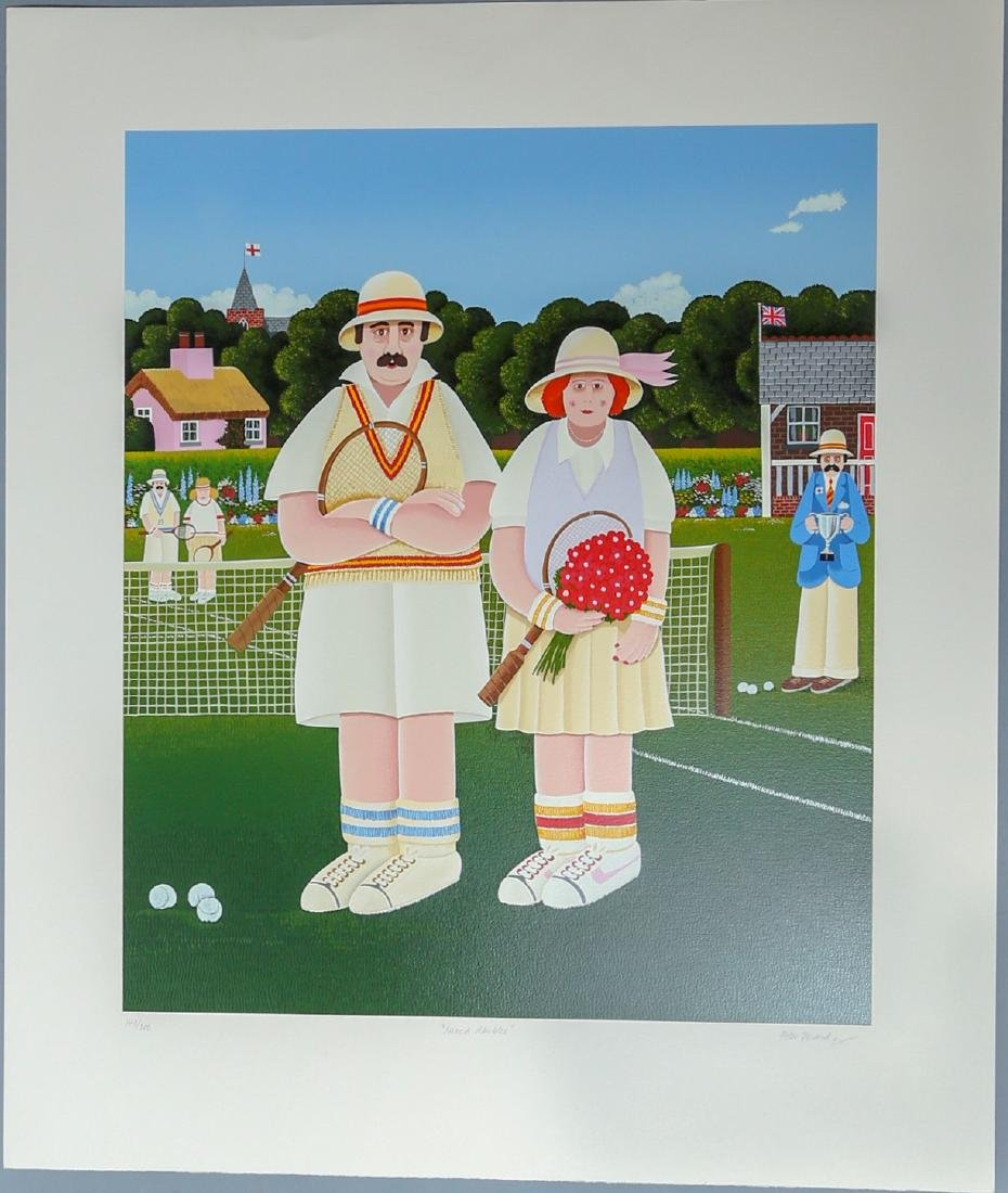 "Peter Heard ""Mixed Doubles"" Signed Print"