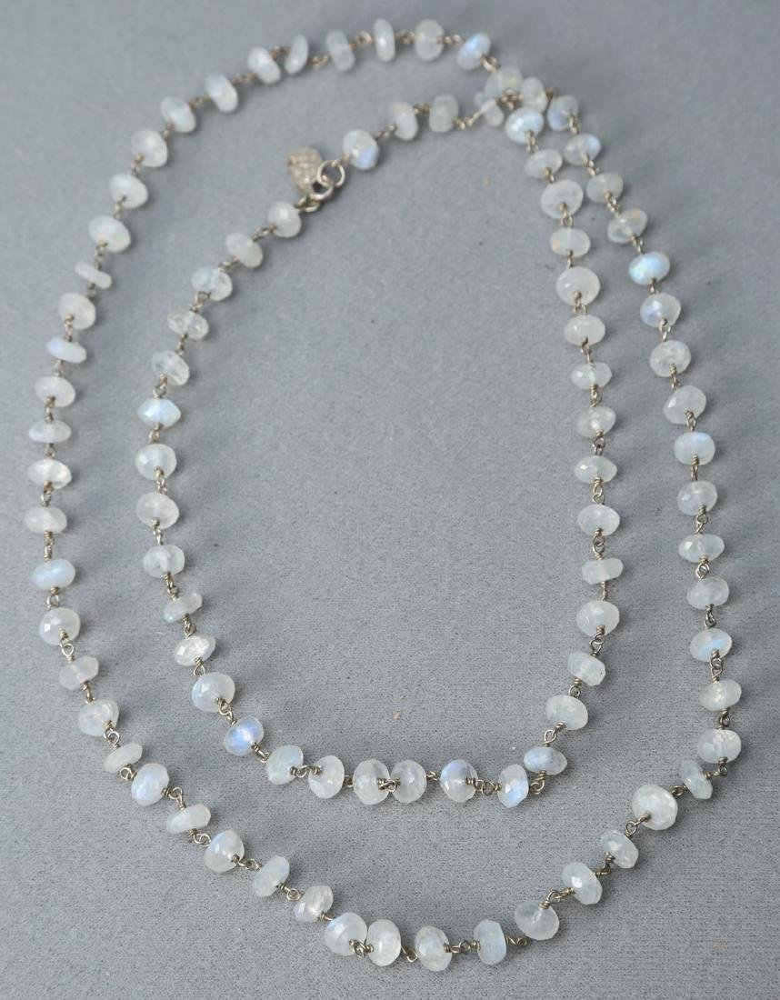 Emily & Ashley Faceted Moonstone Necklace