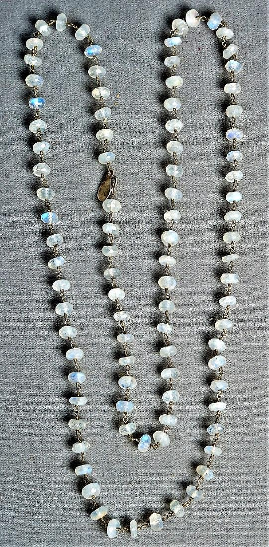 Emily & Ashley Faceted Moonstone Necklace - 4