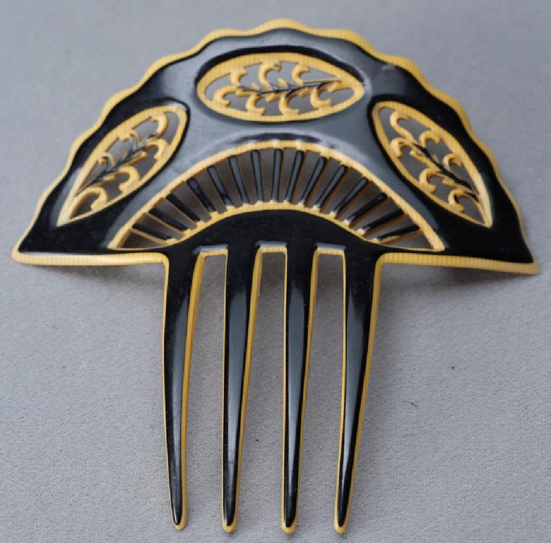 Vintage Celluloid Hair Comb