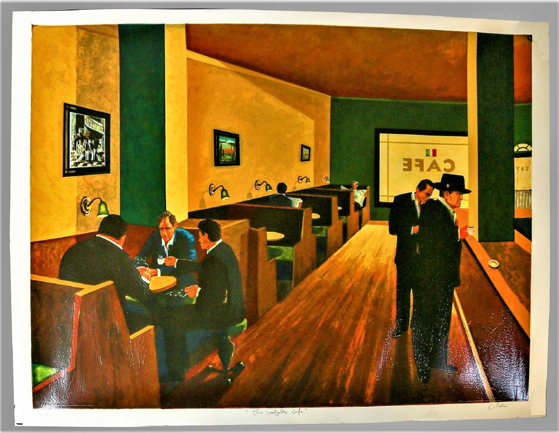 Christian Vincent Serigraph The Godfather Cafe