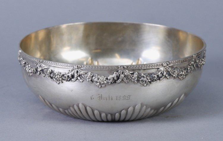 c1870 Wilhelm Binder 800 German Silver Bowl - 2