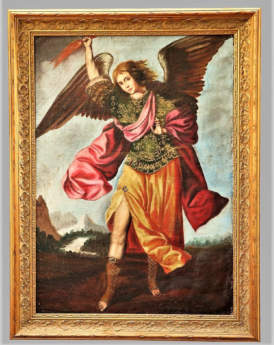 Spanish Colonial Style Archangel Painting