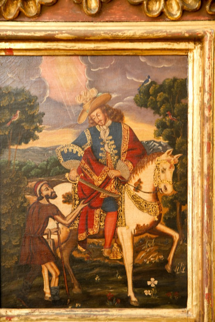 Antique Spanish Colonial Style Painting Conquistador - 2