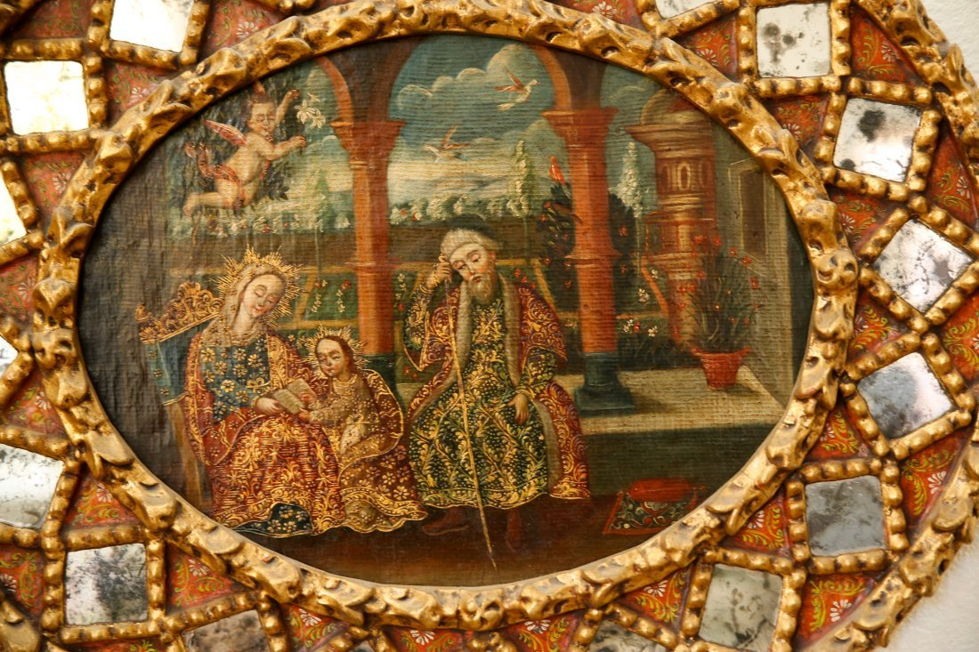 Antique Spanish Colonial Style Painting - 2