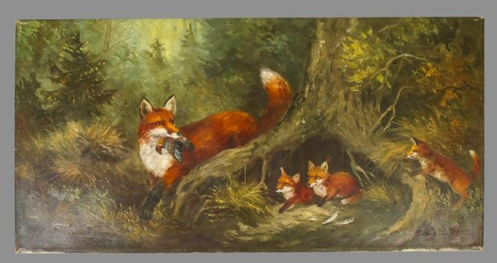 E. Paetz Kalich, Oil on Canvas Fox Den