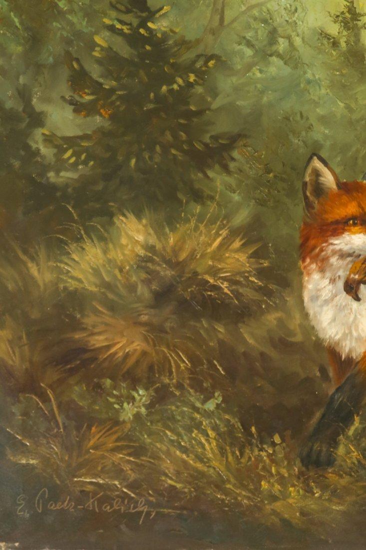 E. Paetz Kalich, Oil on Canvas Fox Den - 2