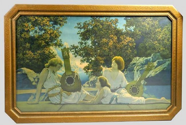 Maxfield Parrish Lute Players