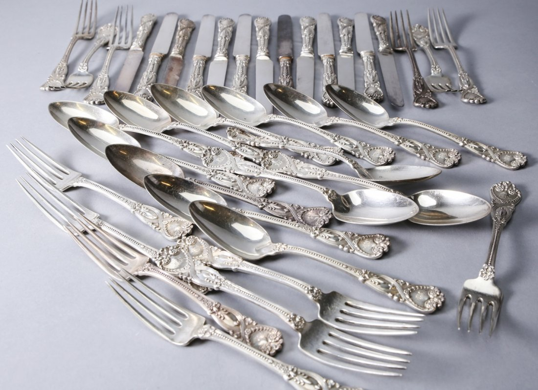 1892 Tiffany Sterling Flatware, St. James 39 pieces - 4