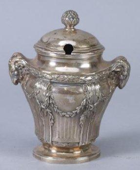 .950 Silver Mustard Jar, Emile Langlois, Tiffany & Co