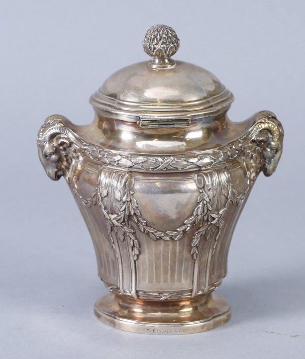 .950 Silver Mustard Jar, Emile Langlois, Tiffany & Co - 3