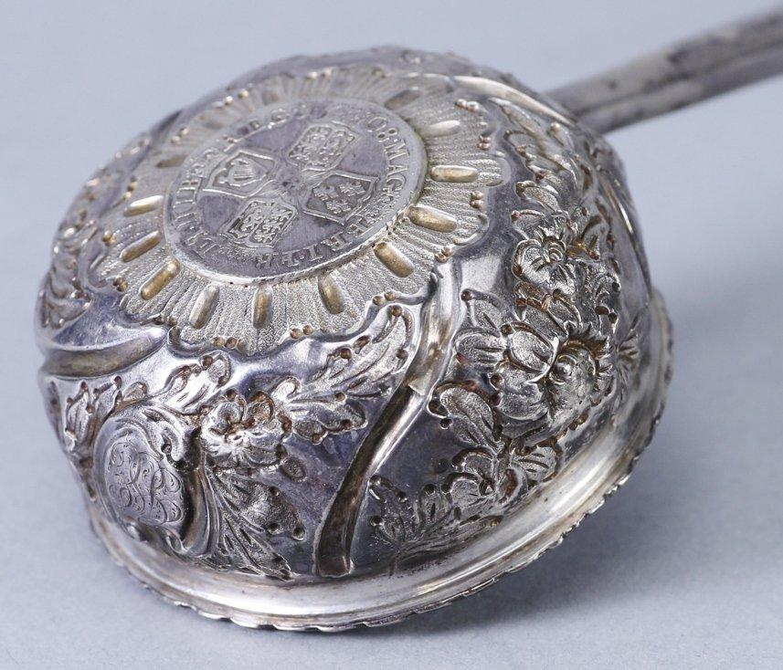 1708 Anna Dei Gratia Silver Toddy Ladle - 4
