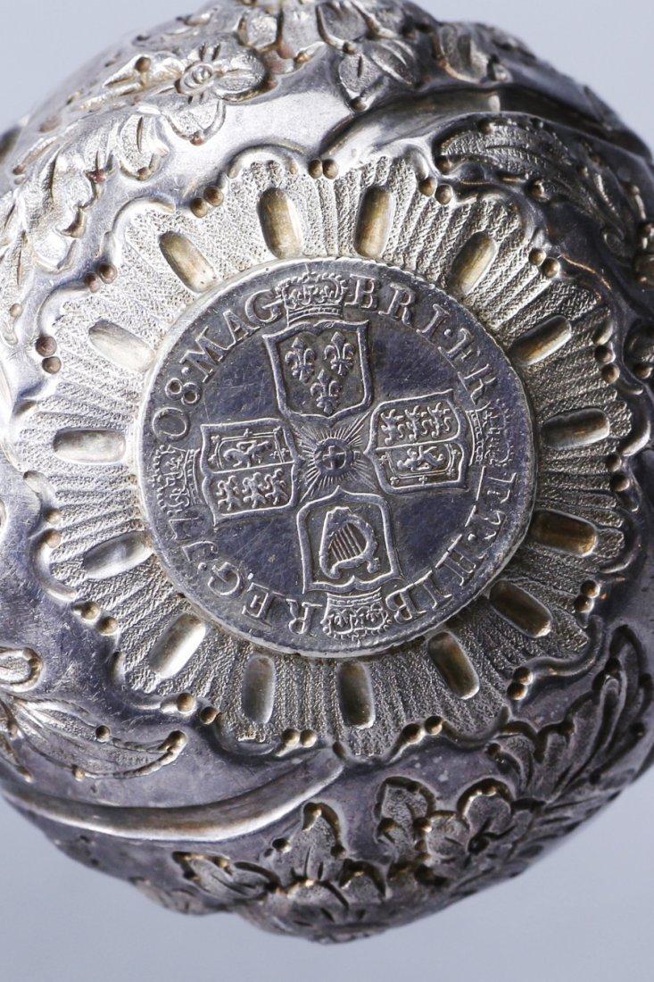 1708 Anna Dei Gratia Silver Toddy Ladle - 5