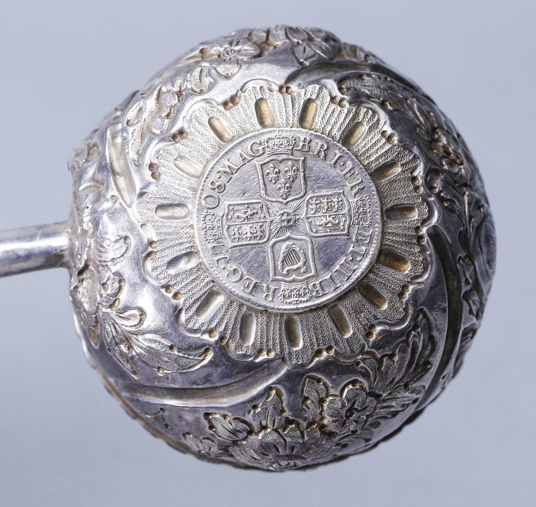 1708 Anna Dei Gratia Silver Toddy Ladle - 6