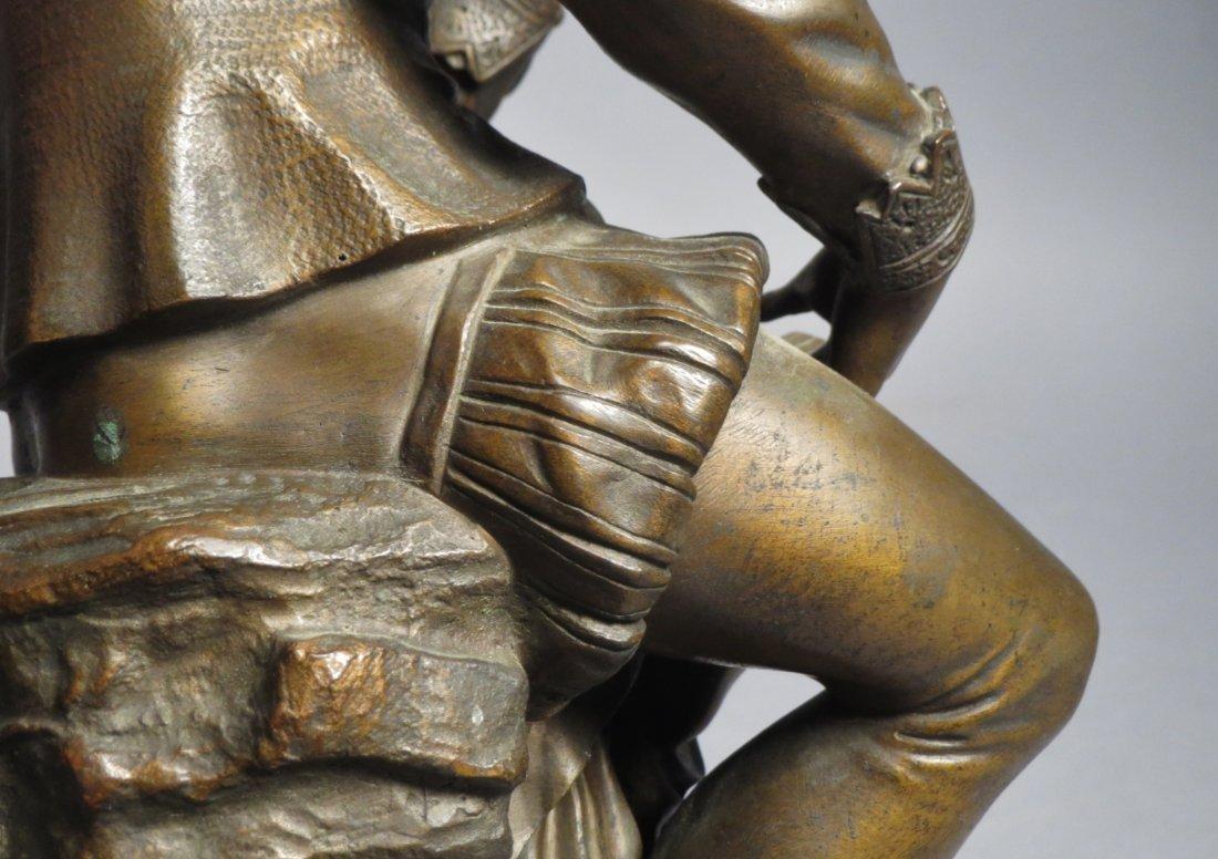 Antique French Bronze Statue, Shakespeare Salmson - 10